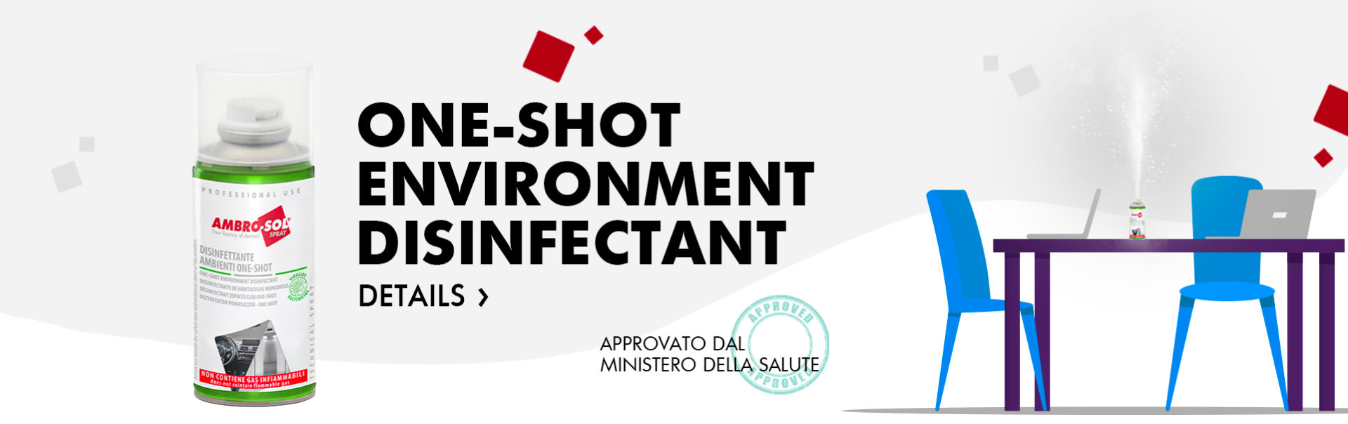 one-shot environment disinfectant A467D ambrosol